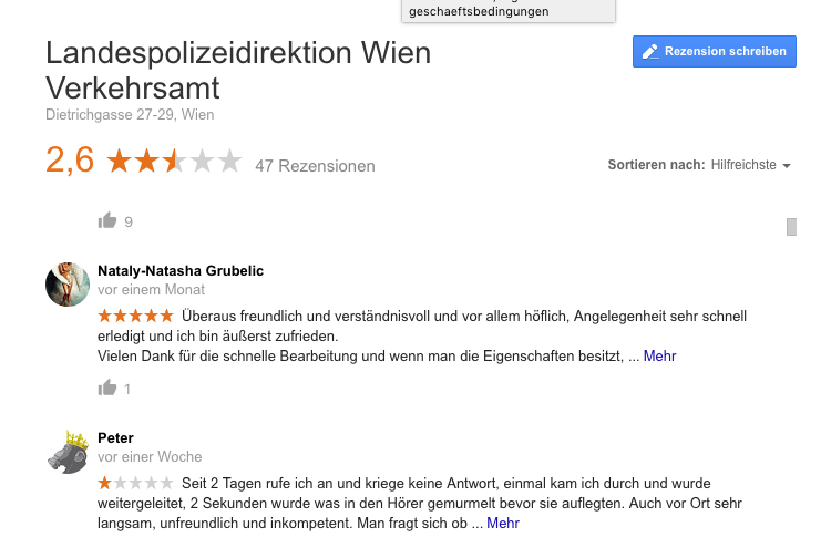 Verkehrsamt Wien Motorradreporter