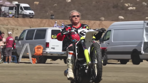 80 YEAR OLD GRANDPA EARL SHREDS DIRT BIKE