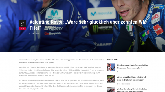 ServusTV mit Rossi Interview