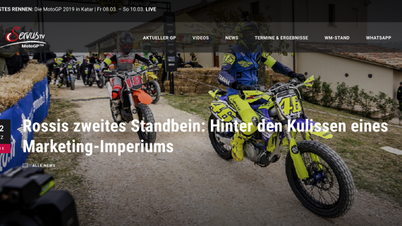 Rossis zweites Standbein: Hinter den Kulissen eines Marketing-Imperiums