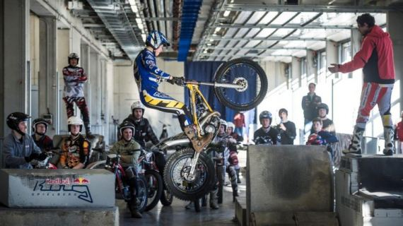 Indoor-Trial-Parcours am Red Bull Ring